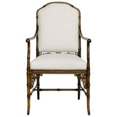 Vintage Faux Bamboo Armchair by Smith & Watson