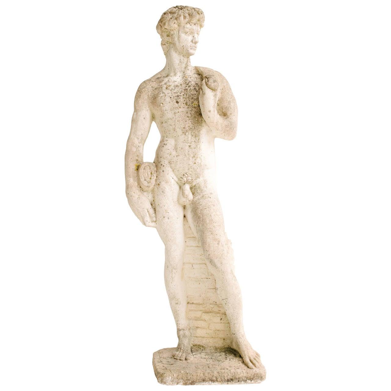 Garden Statue of David at 1stdibs