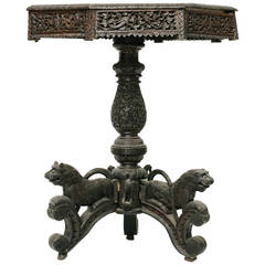 19th Century Carved Nepalese Occasional Table