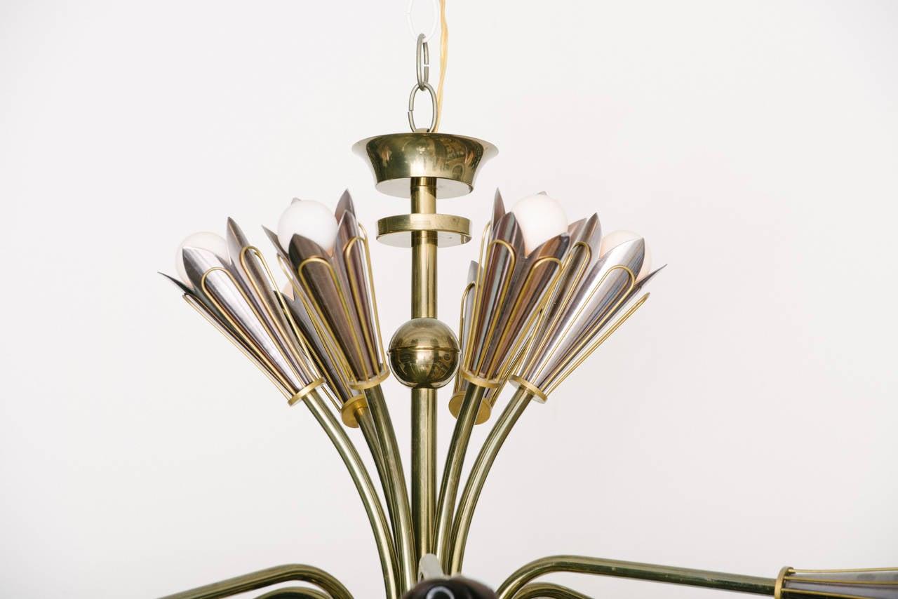 Italian modernist sputnik chandelier at 1stdibs for Sputnik chandelier