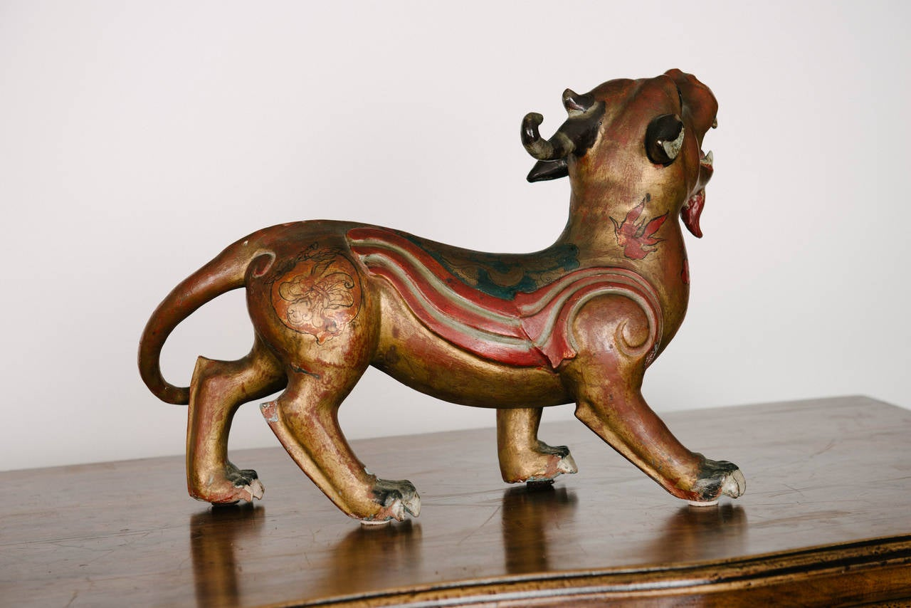 Chinese Pair of 19th Century Bonze Patinated Pixiu Dragon Sculptures For Sale