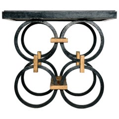 Geometric French Wrought Iron Occasional Table