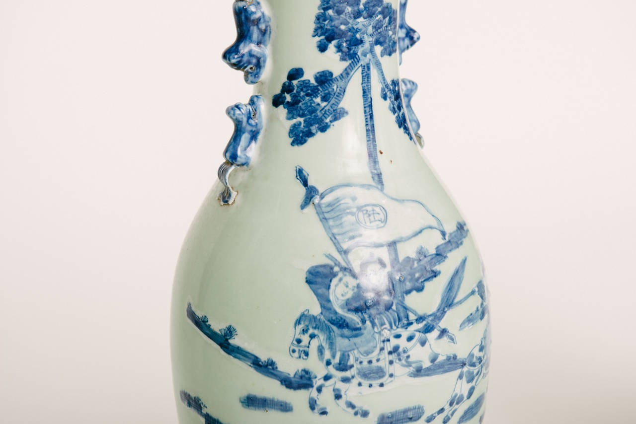 20th Century Chinese Hand Painted Porcelain Vases For Sale