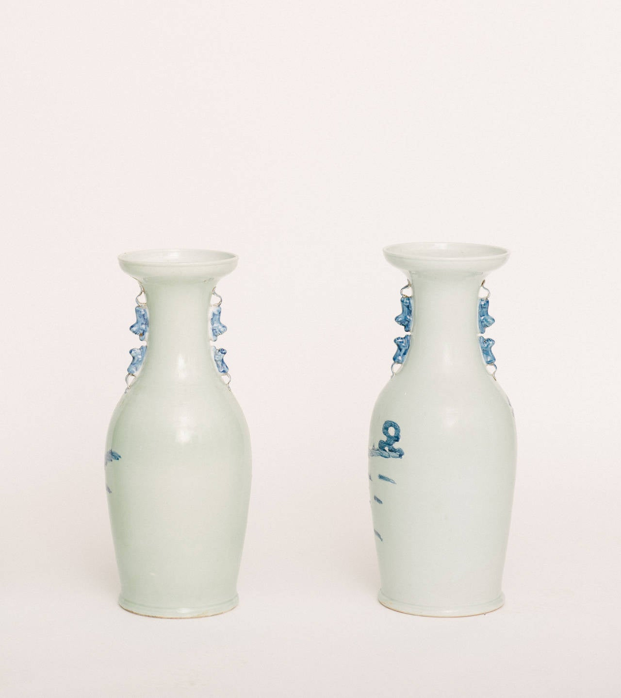 Chinese Hand Painted Porcelain Vases For Sale 1