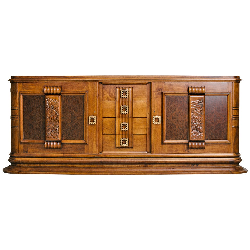 french art deco gaston poisson buffet at 1stdibs. Black Bedroom Furniture Sets. Home Design Ideas