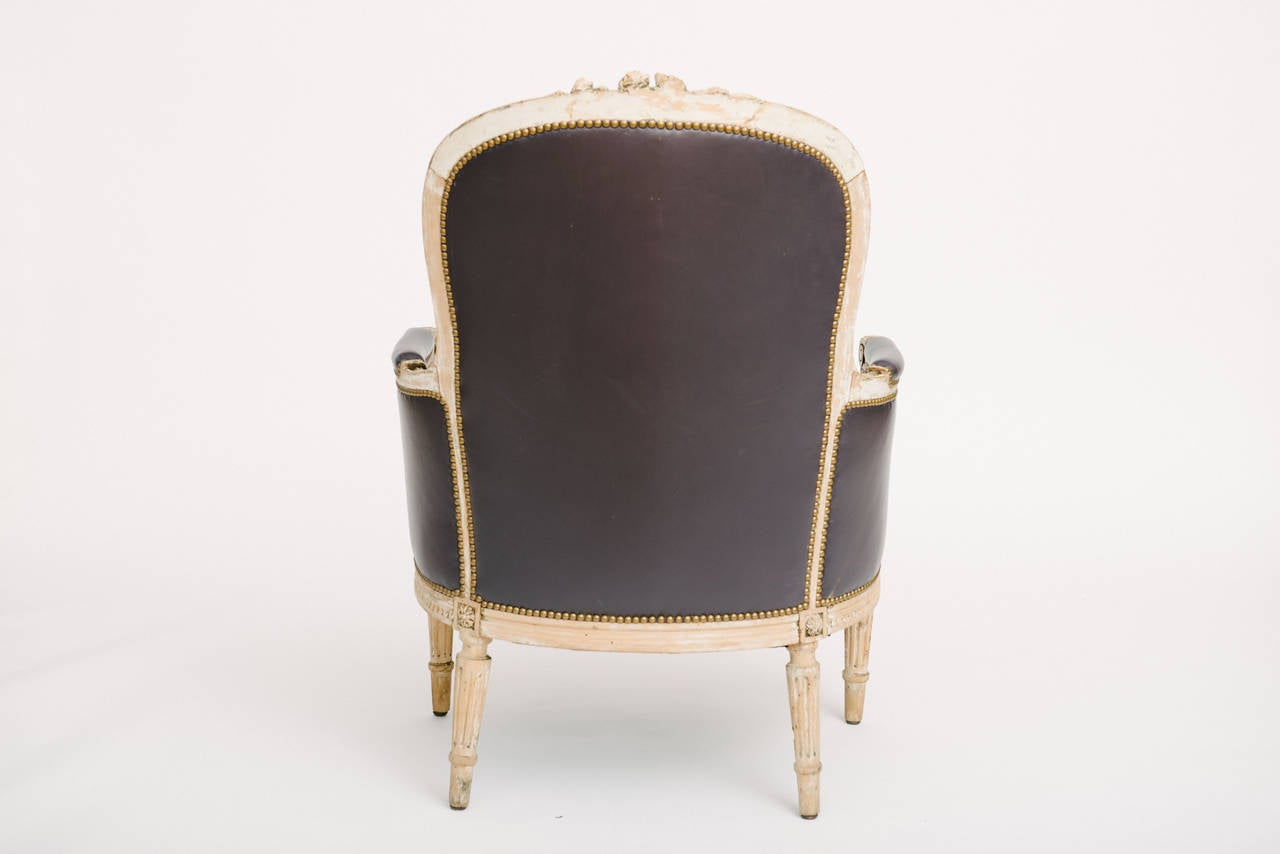 Pair of 19th Century French Louis XVI Style Bergere Chairs 1