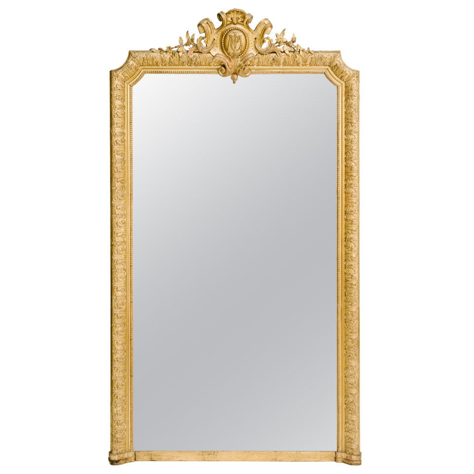 19th century french gilt mirror at 1stdibs for What is a gilt mirror