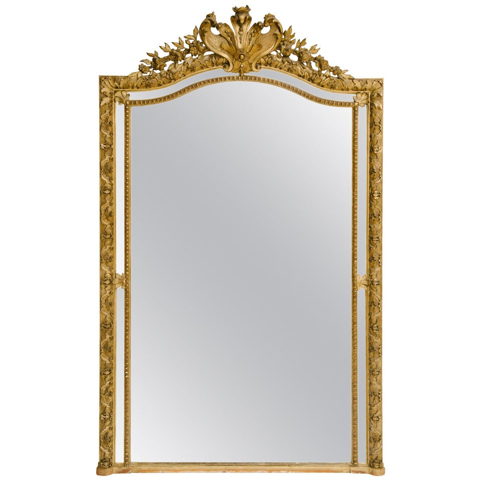 19th century french giltwood mirror at 1stdibs for French mirror