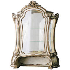 19th Century French Painted and Giltwood Vitrine