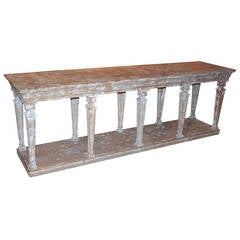Large French Painted Sideboard