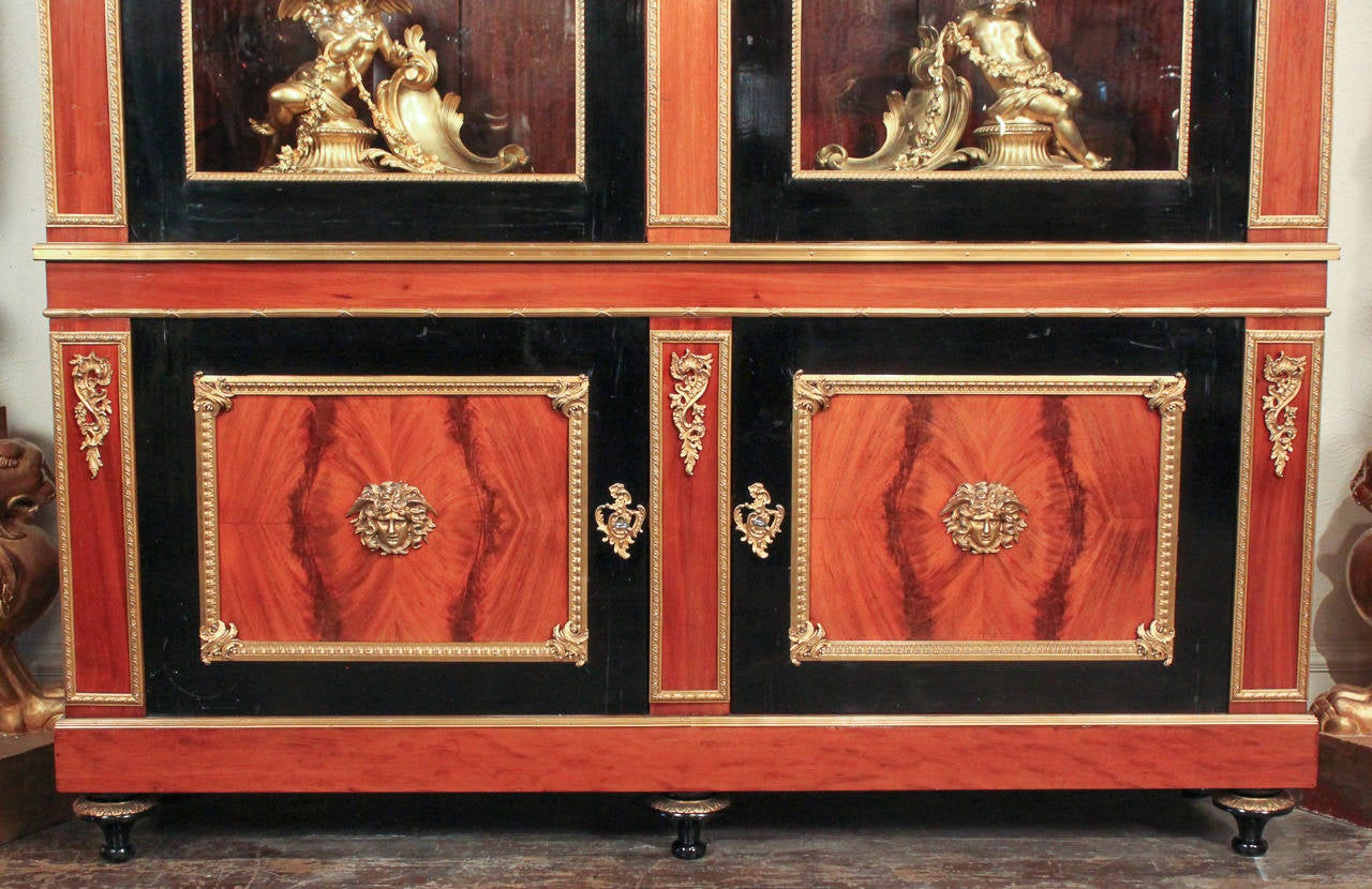 Lacquered 19th Century French Directoire Bookcase For Sale