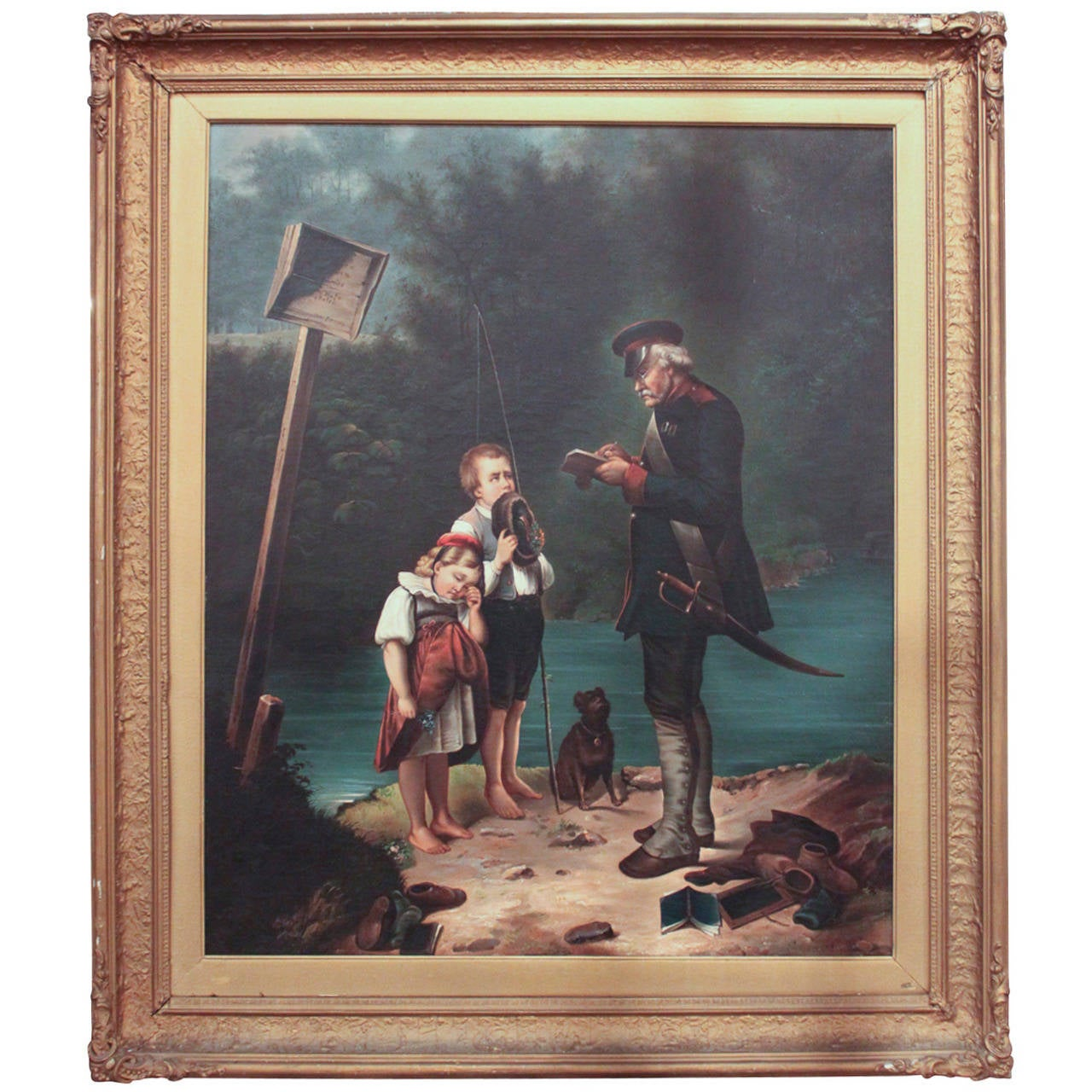 19th C German Oil On Canvas At 1stdibs