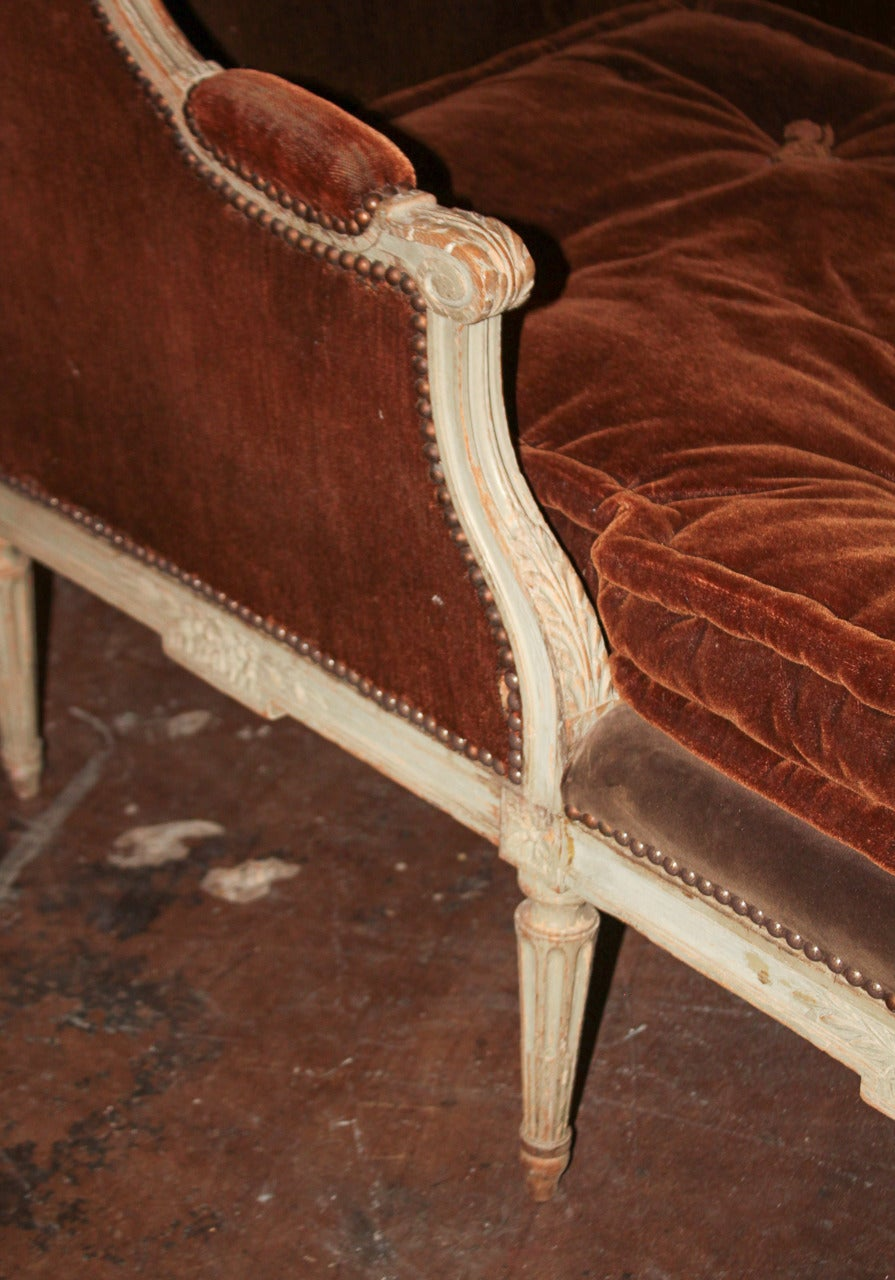 19th c french louis xvi chaise longue for sale at 1stdibs - Chaise medaillon louis xvi ...
