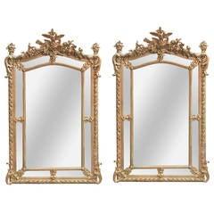 Fine Pair of 19th Century French Louis XVI Mirrors
