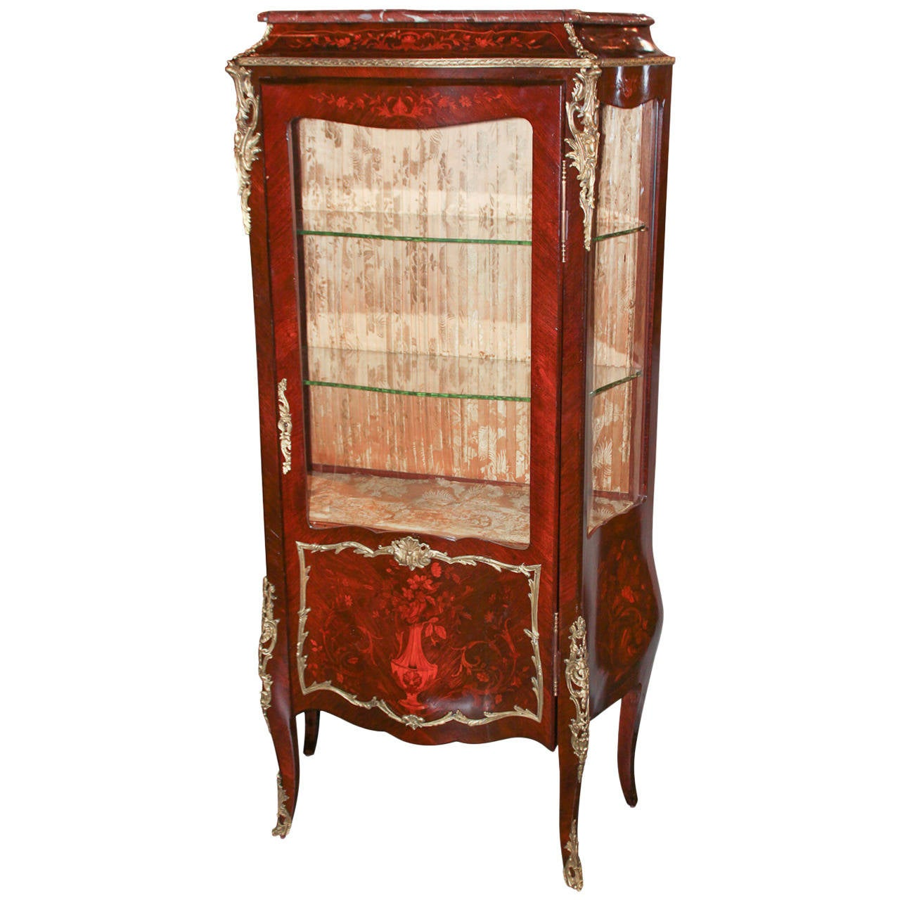 19th C French Louis Xv Curio Cabinet At 1stdibs