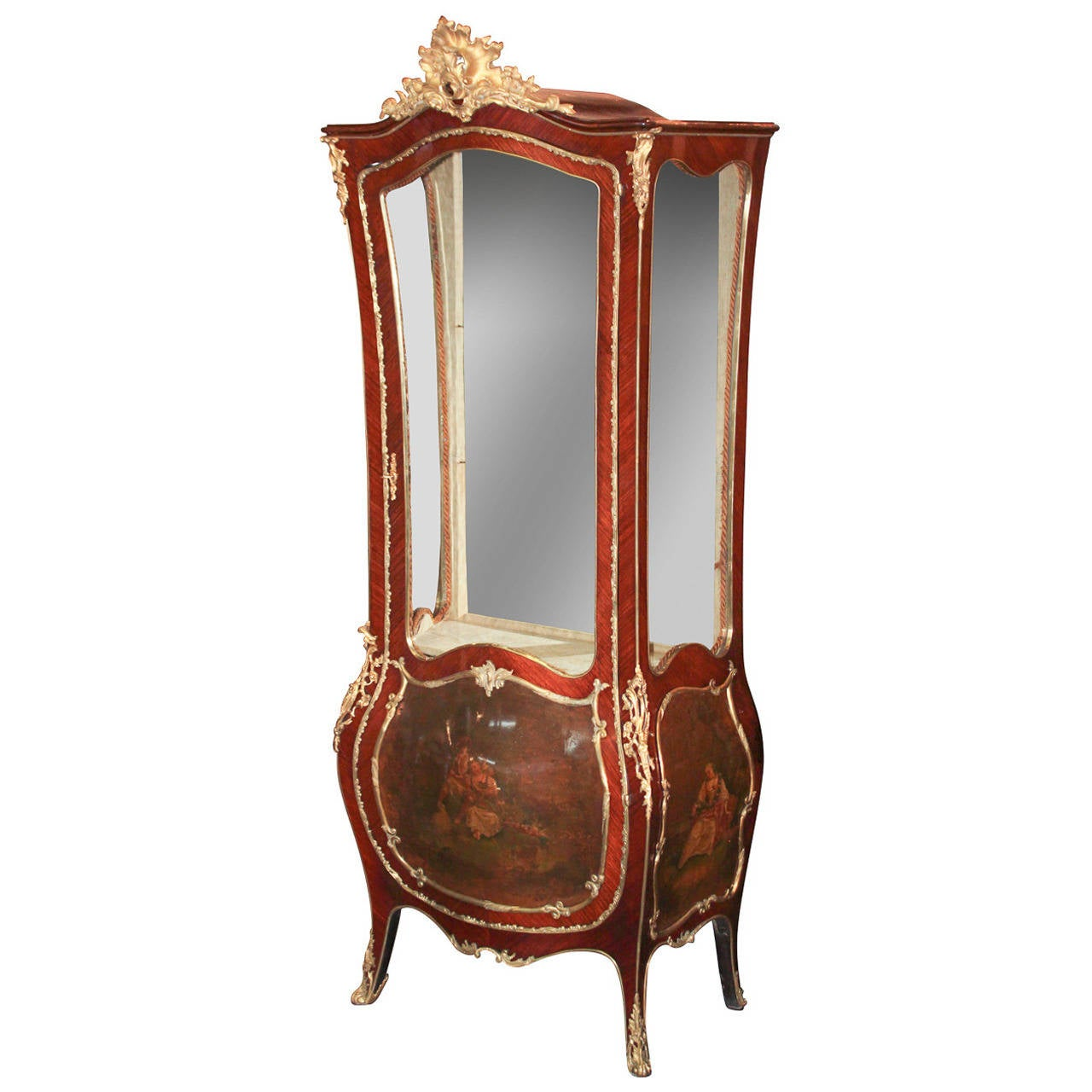 French Louis XV Curio Cabinet 1 - Fine 19th C. French Louis XV Curio Cabinet For Sale At 1stdibs