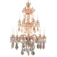 Feines 19tes Jahrhundert Französisch Kristall-Kronleuchter