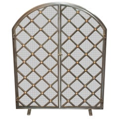 Legacy Custom Steel and Brass Fire Screen