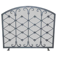 Legacy Custom Wrought Iron Fire Screen