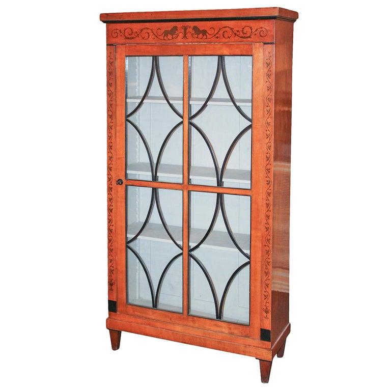 19th Century Biedermeier Bookcase For Sale