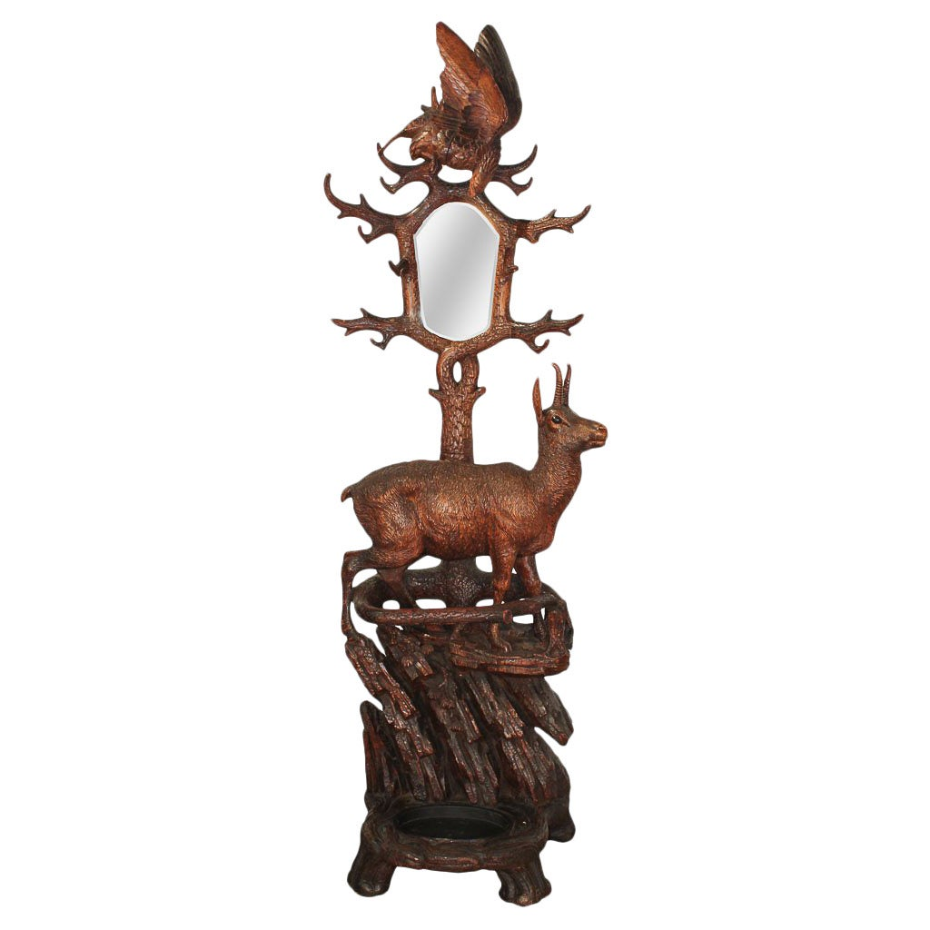 Important 19th Century Black Forest Hall Stand