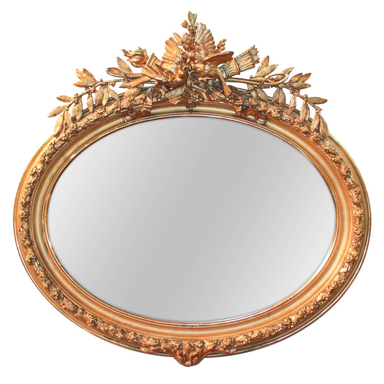 Arched gilt mirror at 1stdibs - 19th Century French Louis Xvi Oval Gilt Mirror 1