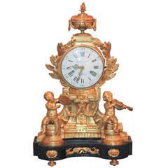 Fine 19th Century Parisian Bronze Clock
