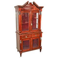 19th Century Russian Neoclassical Vitrine