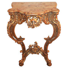 19th Century Italian Carved Giltwood Console