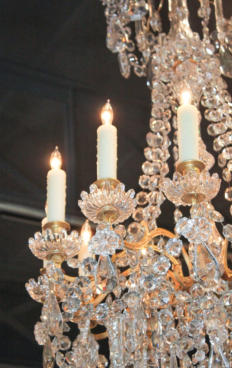 Fine 19th Century French Baccarat Crystal Chandelier At