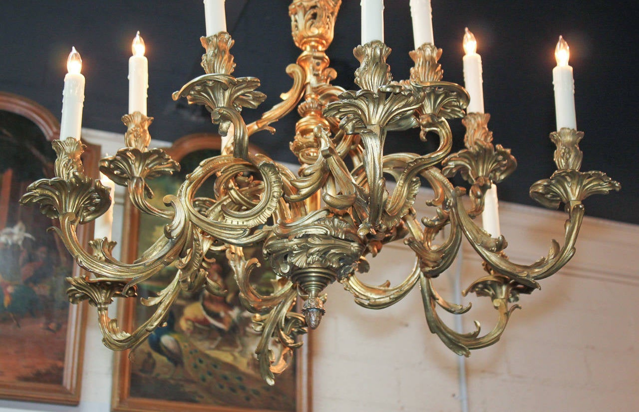 19th Century French Louis Xv Chandelier At 1stdibs