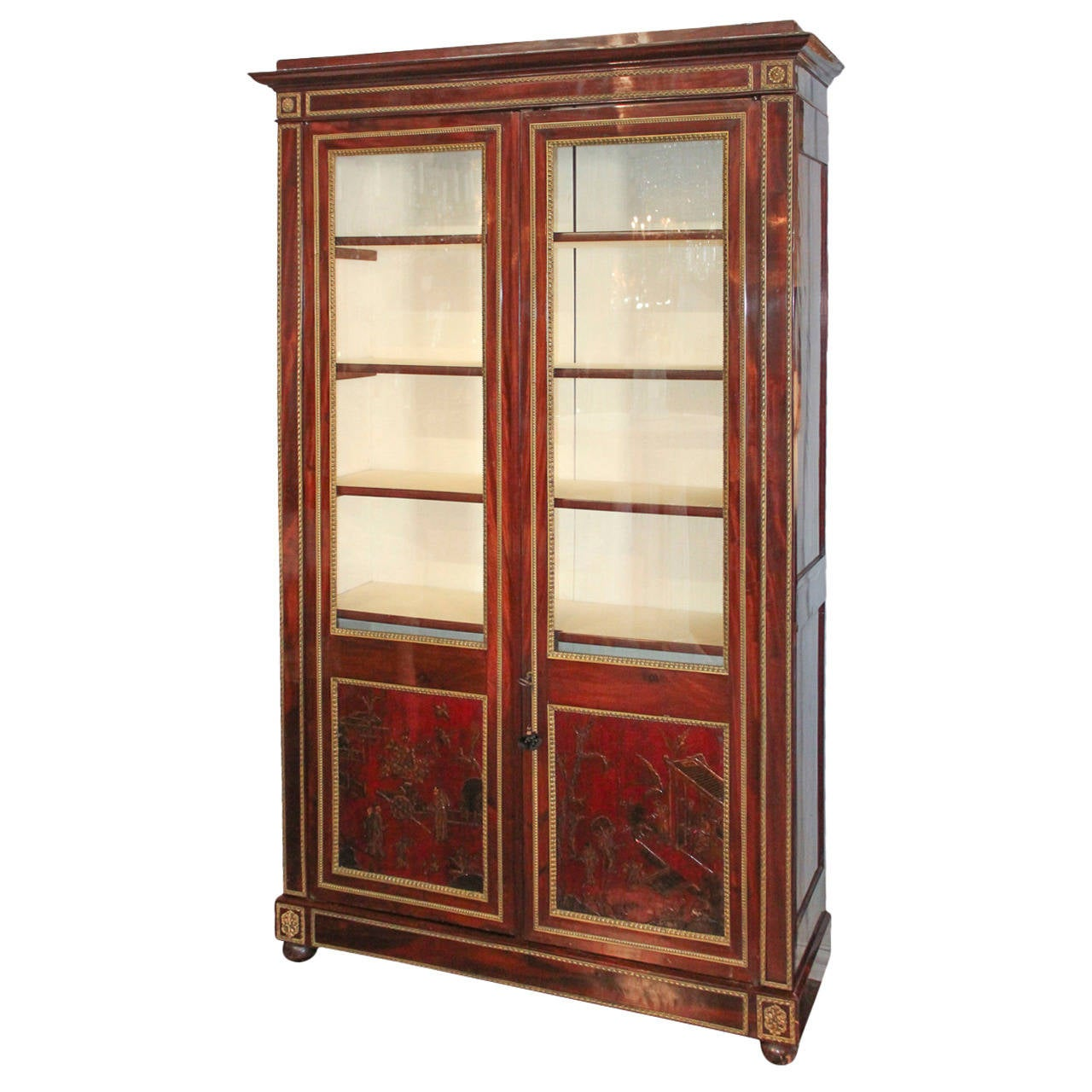 Outstanding 19th century french cuban mahogany cabinet for for 19th century kitchen cabinets
