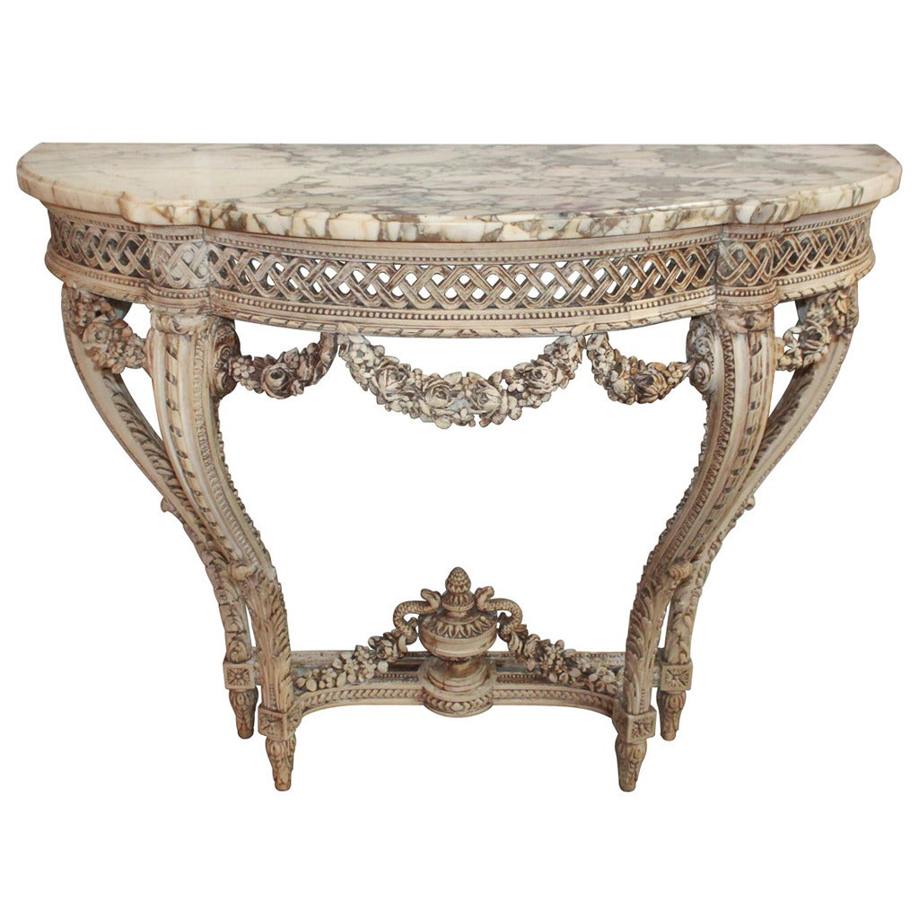 19th century french louis xvi console table at 1stdibs. Black Bedroom Furniture Sets. Home Design Ideas