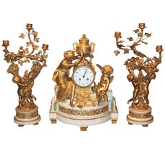 French Louis XV Style Garniture Set
