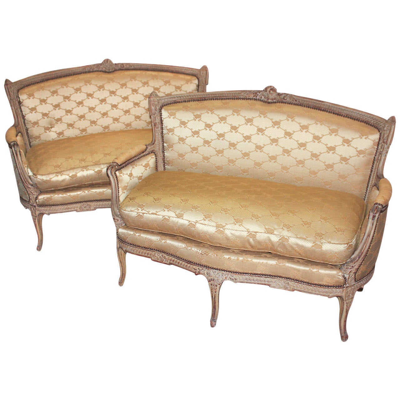 Great pair of 19th century french settees for sale at 1stdibs for Settees for sale