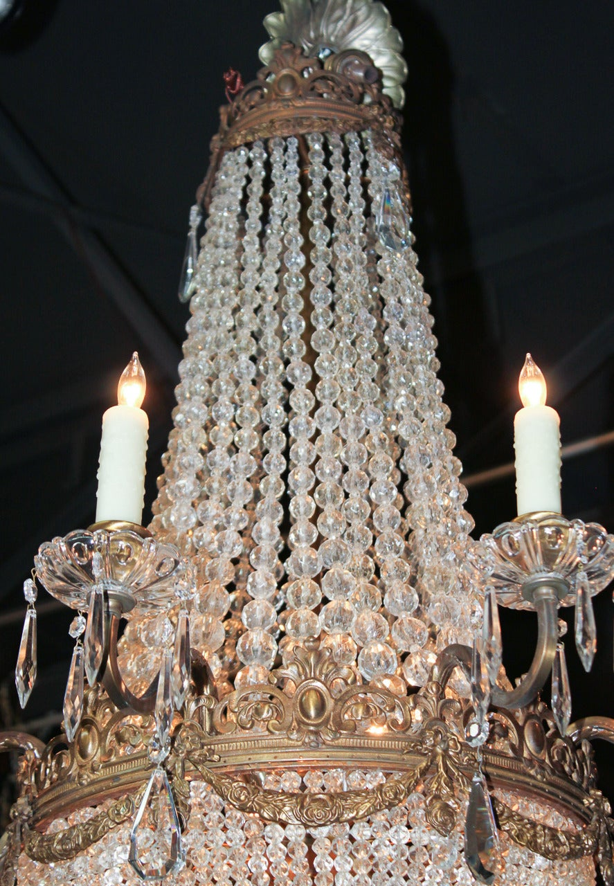 Fine Pair Of 19th C French Chandeliers At 1stdibs