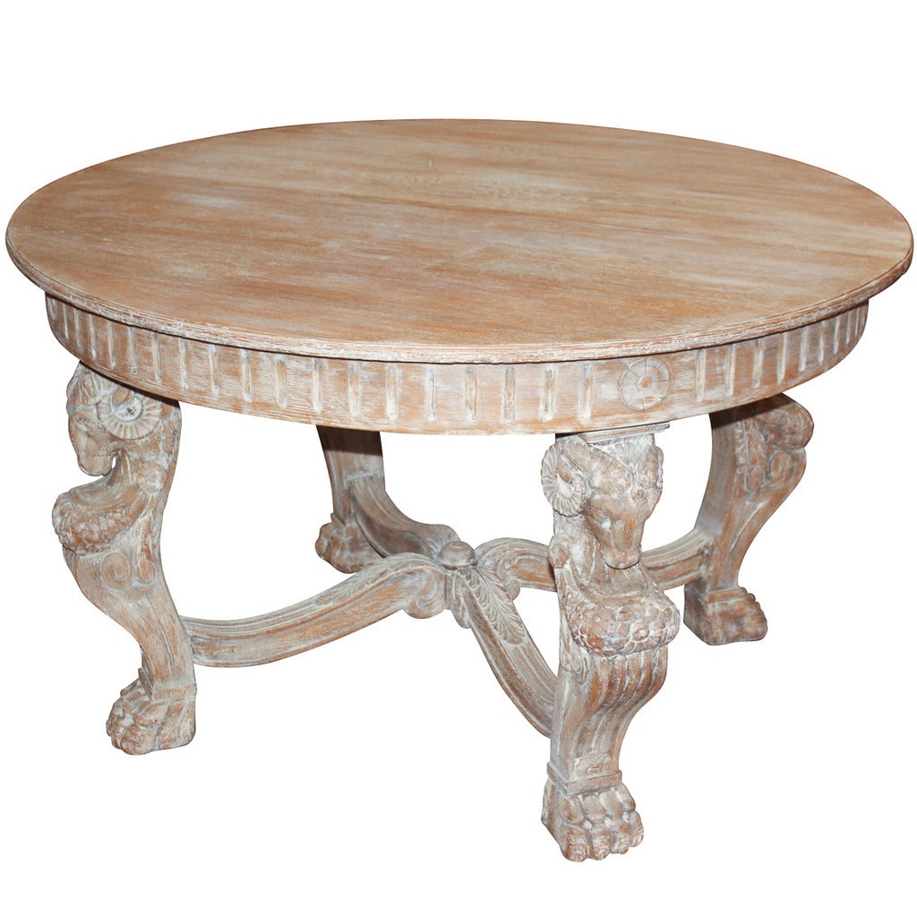 French Neoclassical Pickled Oak Center Table at 1stdibs : ORGxbleacheditaliancentertable 1 from www.1stdibs.com size 1024 x 1024 jpeg 138kB