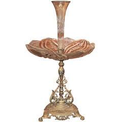 Continental Bronze & Crystal Centerpiece