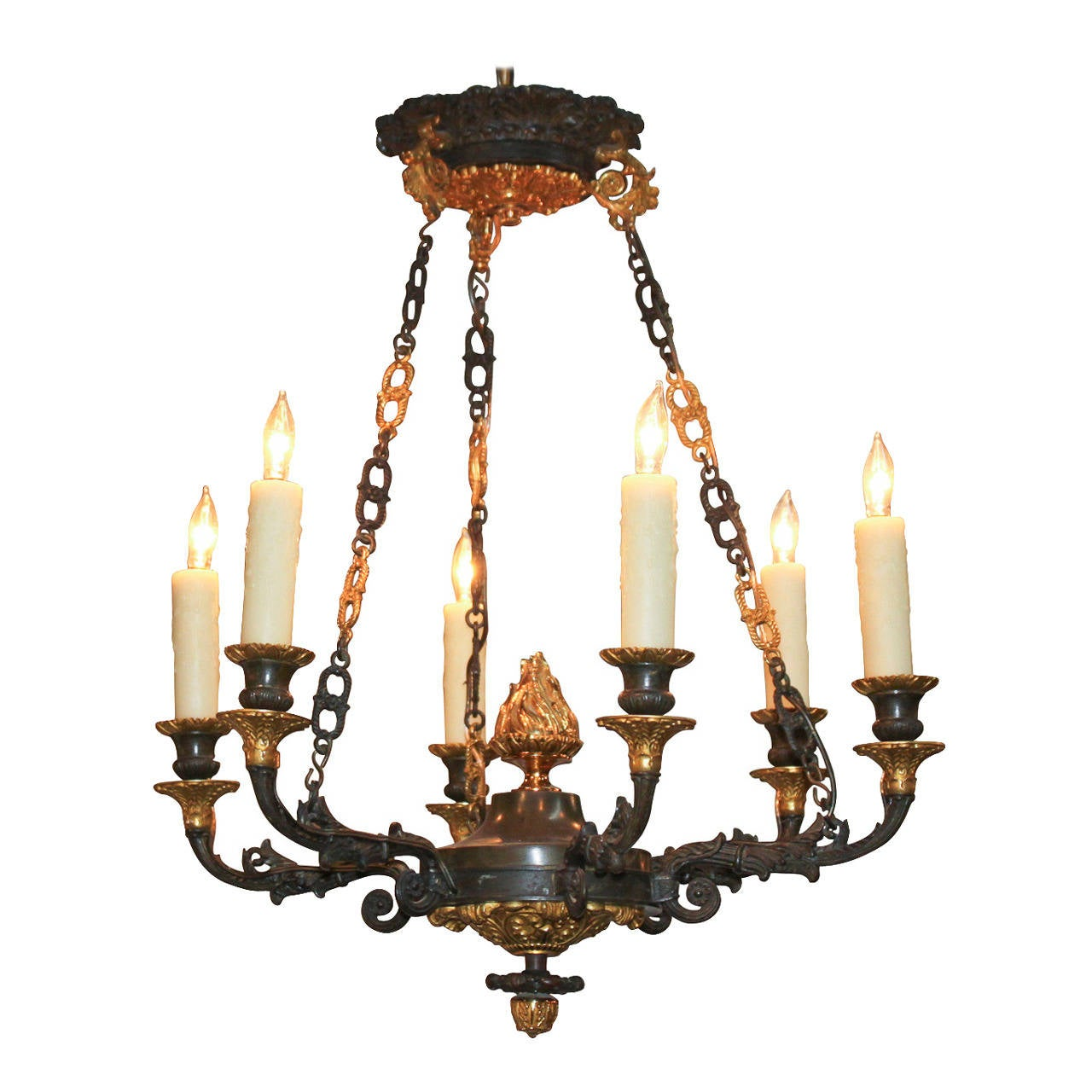 French Empire Bronze Chandelier For Sale At 1stdibs