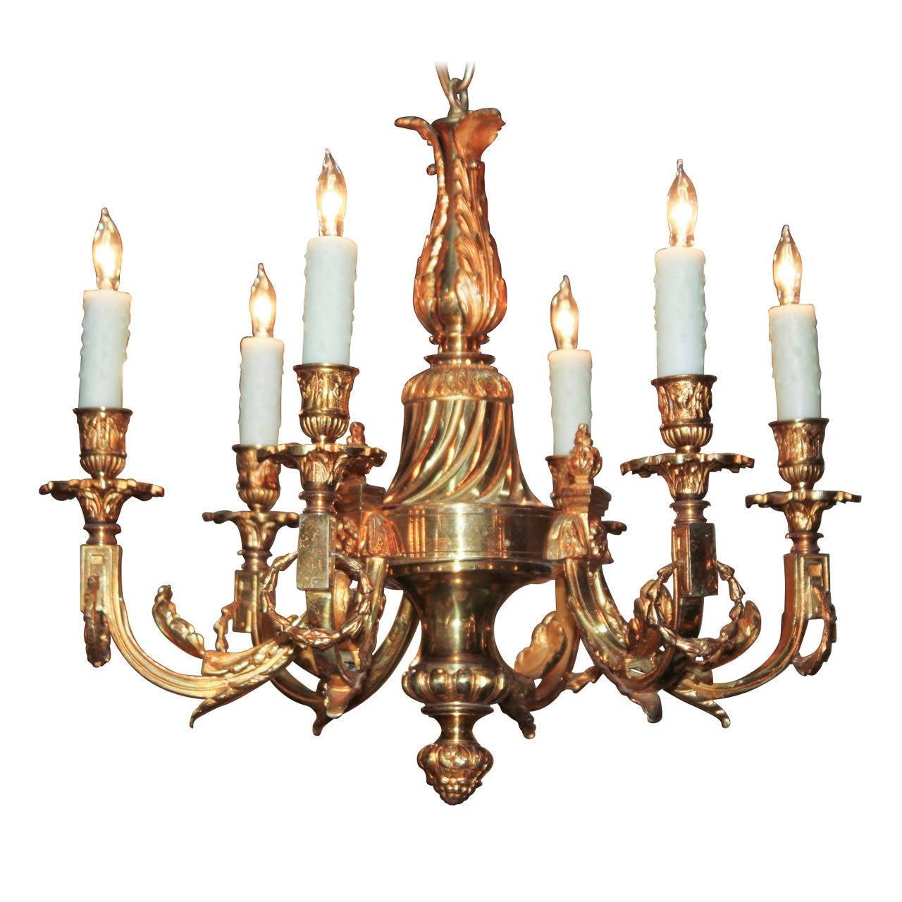 19th c. French Bronze Chandelier