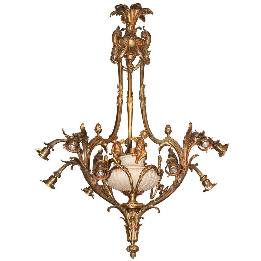 French rococo gilt bronze chandelier for sale at 1stdibs - Chandelier for sale ...