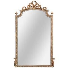 French Louis XV Silver Gilt Mirror