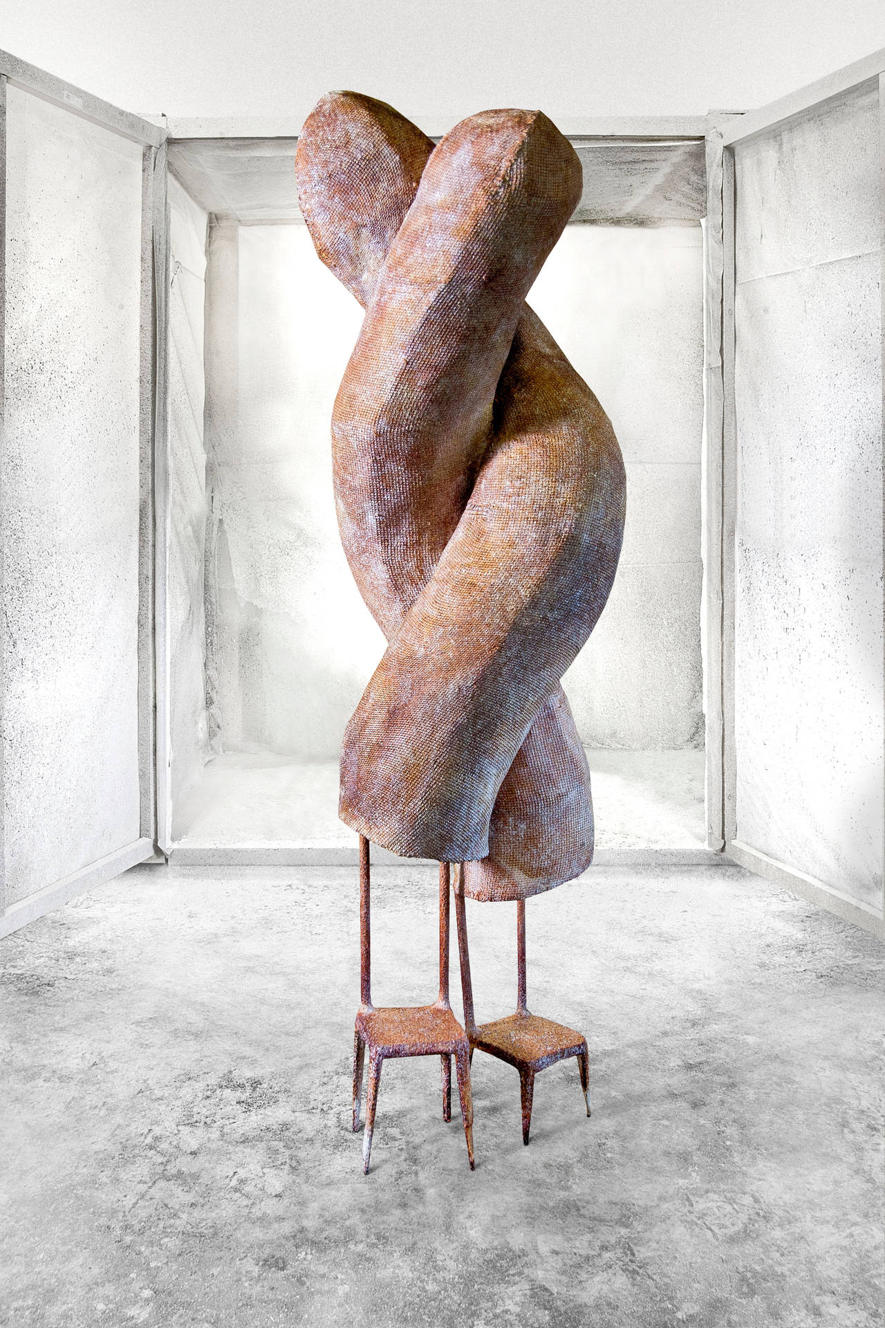 "Nacho Carbonell No. 17 ""Twins"" in Iron Frame, Iron Mesh and Paper Pulp, 2014 4"