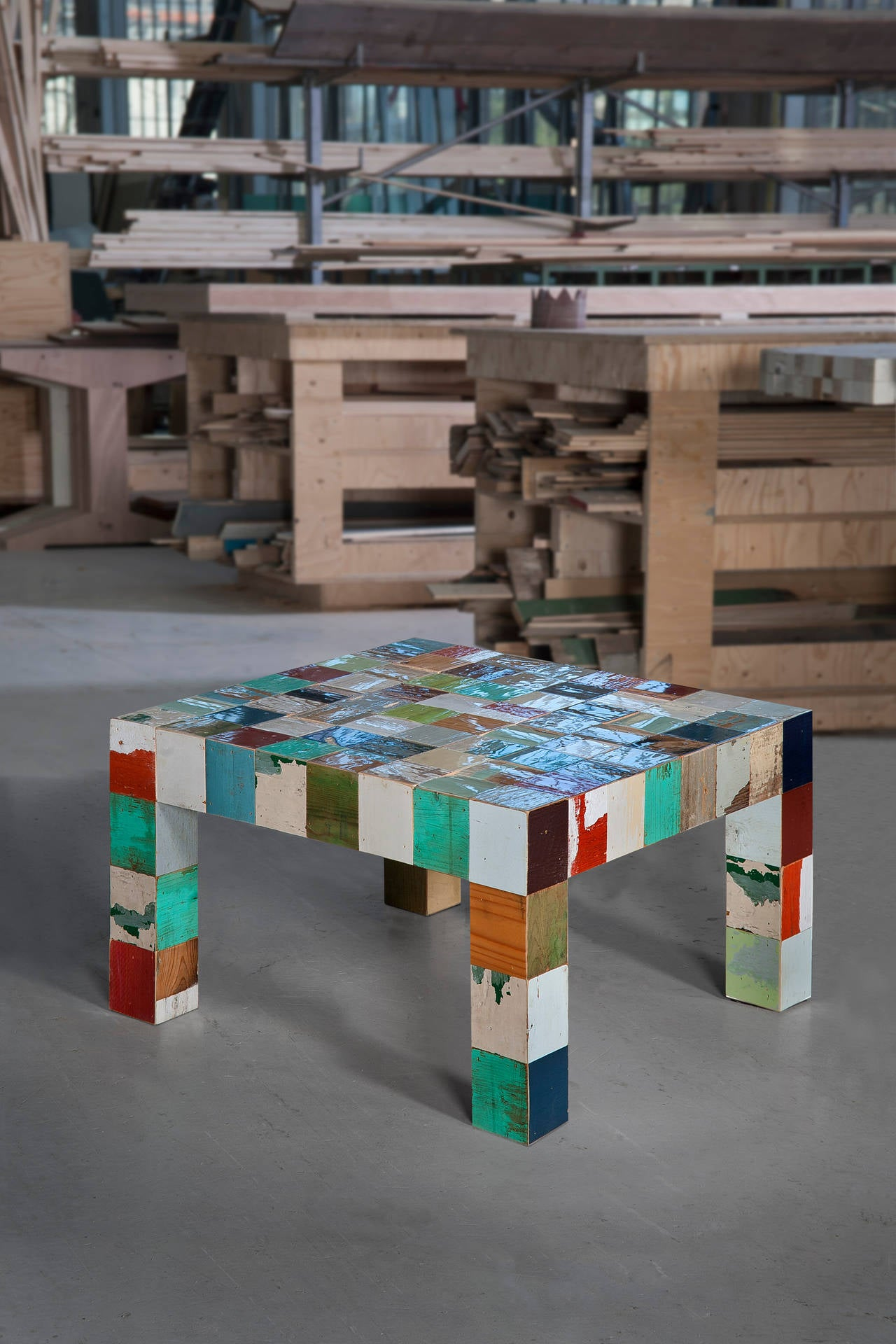 Piet hein eek no 33 waste waste 80 x 80 coffee table in for Coffee table 80 x 80
