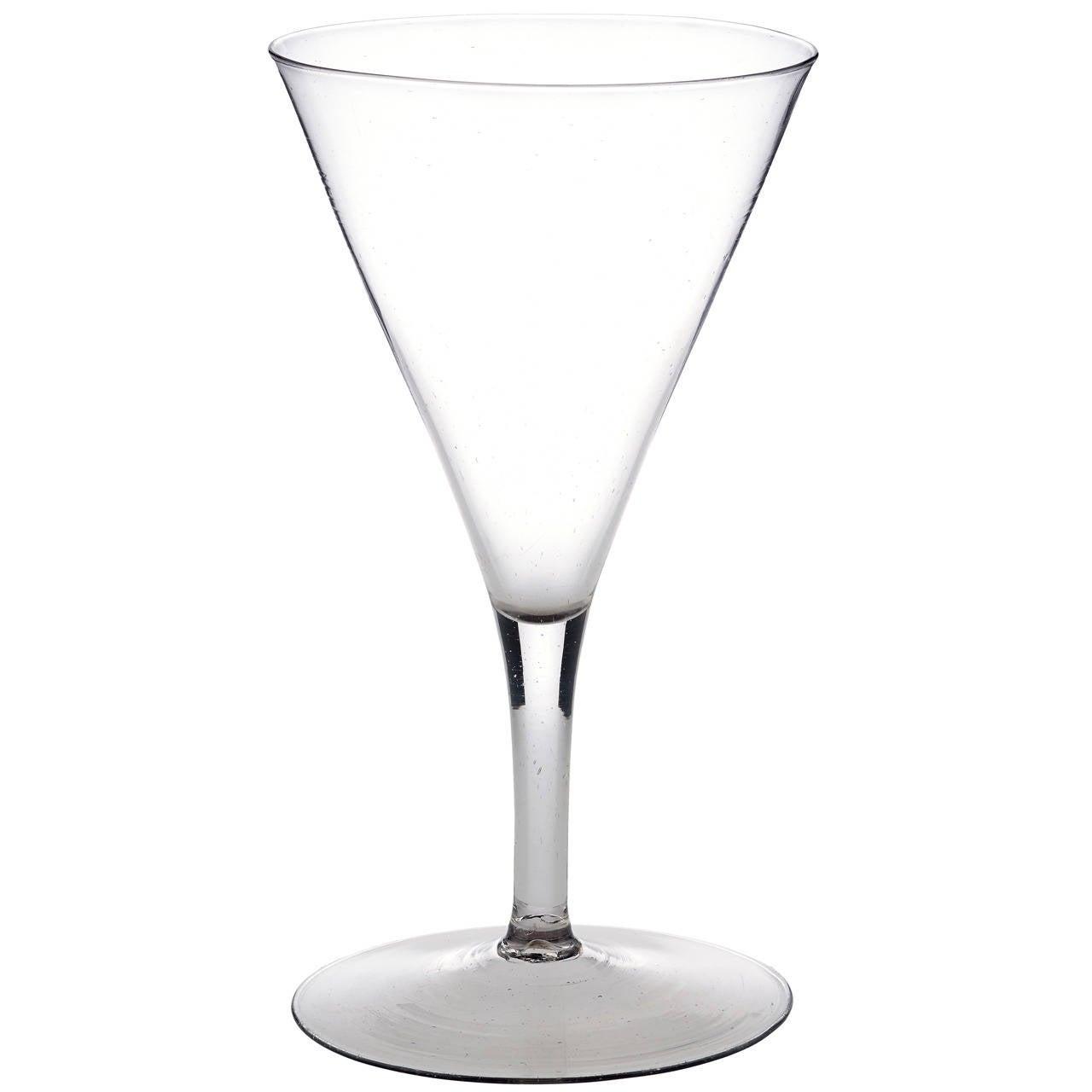 Large Trumpet Drawn Wine Glass At 1stdibs