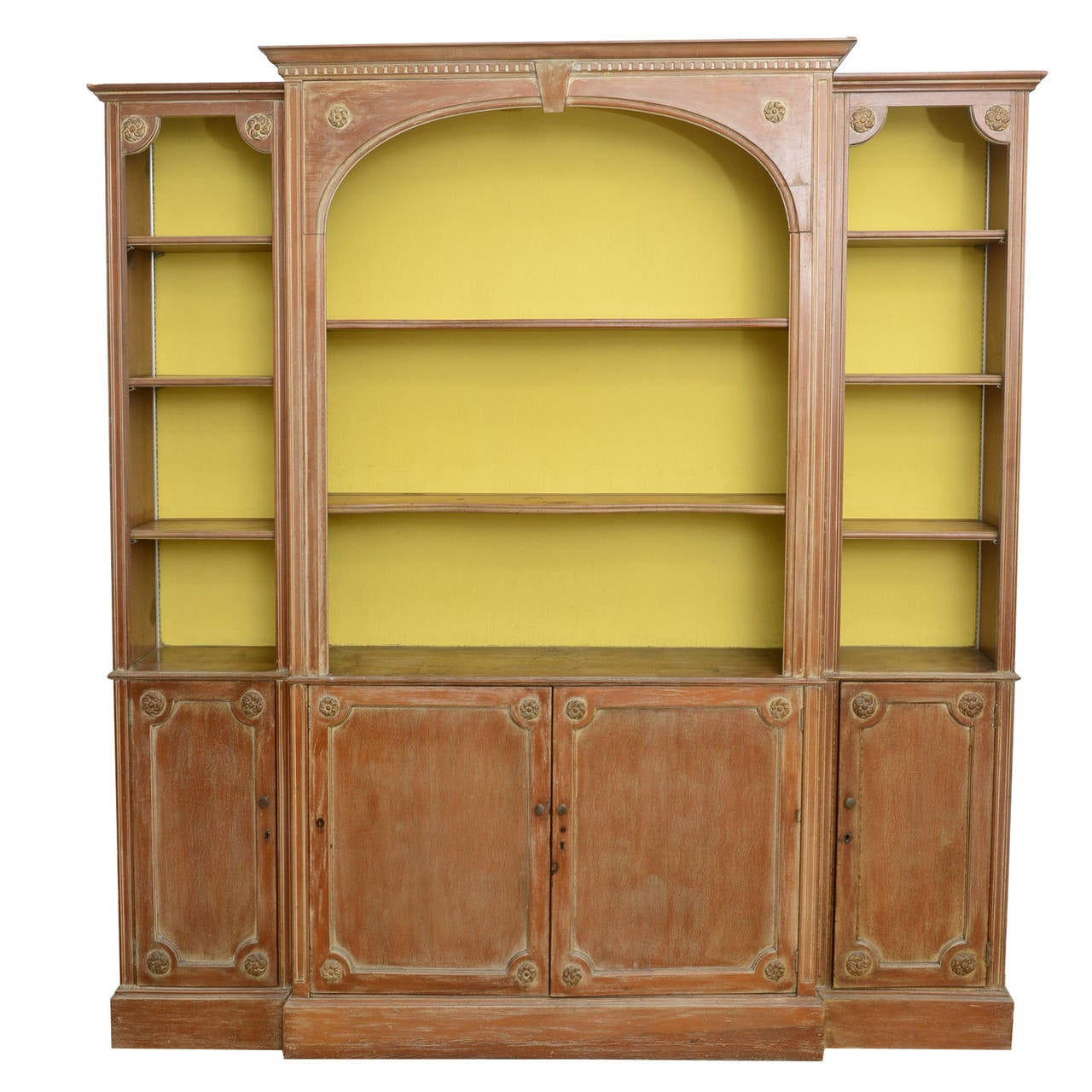 Pine Display Cabinet Wall Unit Shallow To The Wall At 1stdibs