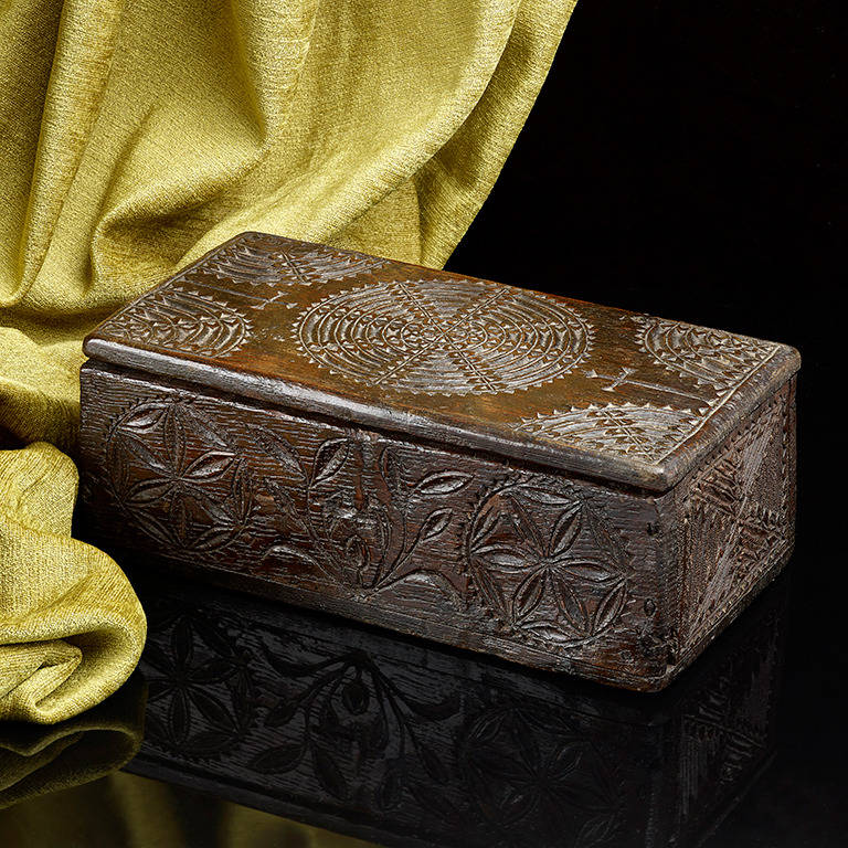 A chip carved oak missal box english at stdibs