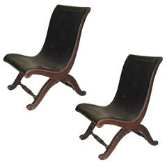 Three Slipper Chairs by Pierre Lottier
