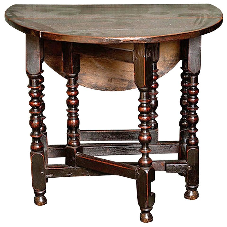 17th century oak gateleg table at 1stdibs - Gateleg table with chairs ...