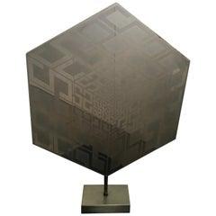 The new world by Estuardo Maldonado Geometric Abstract Steel Sculpture 1974